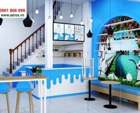Thiết kế nội thất quán sữa chua của anh Thọ tại quận 7, TP.HCM