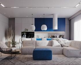4 Ý tưởng thiết kế căn hộ với điểm nhấn màu xanh dương đầy hiện đại