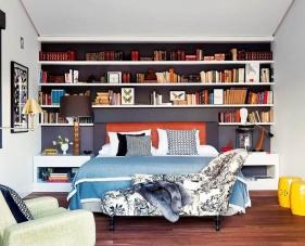 40 Cách bố trí kệ sách phòng ngủ siêu đẹp và tiết kiệm không gian