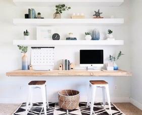 Gợi ý mẫu kệ sách văn phòng tại nhà đẹp tích hợp nhiều công năng