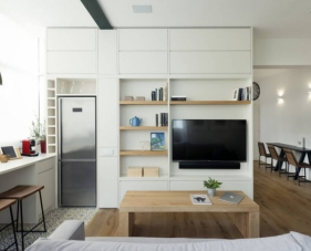Mẫu thiết kế nội thất căn hộ chung cư 60m2 đẹp #3