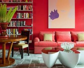 25 Ý tưởng thiết kế phòng khách màu đỏ độc đáo mà bạn không thể rời mắt