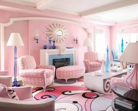 40 Mẫu thiết kế phòng khách màu hồng khiến các nữ gia chủ ngất ngây