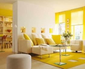 Ý tưởng thiết kế phòng khách màu vàng với phong cách tươi sáng, năng động