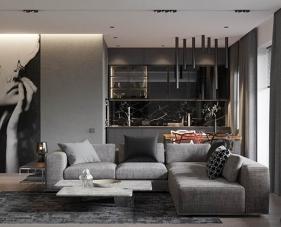 40 Mẫu thiết kế phòng khách màu xám hiện đại và sang trọng