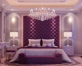 Phòng ngủ màu tím cho những gia chủ yêu thích phong cách lãng mạn