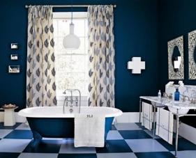 Top 20 mẫu thiết kế phòng tắm màu xanh navy đem lại cảm giác thư giãn