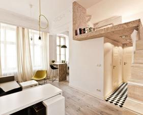 Thiết kế căn hộ 36m2 độc đáo mang lại không gian sinh hoạt thoải mái
