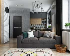 Thiết kế căn hộ 48m2 không còn quá khó khăn vì hạn chế diện tích