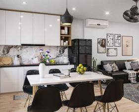 Bí quyết thiết kế căn hộ chung cư 45m2 2 phòng ngủ đẹp và tiện nghi