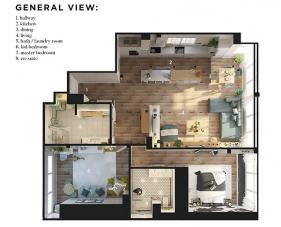 Thiết kế chung cư 80m2 2 phòng ngủ hiện đại và ấn tượng