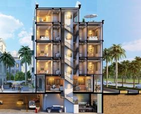 Thiết kế khách sạn mini giúp chủ đầu tư tăng doanh thu