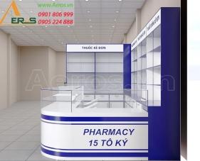 Thiết kế nhà thuốc tây Pharmacy 15 Tô Ký - Hóc Môn