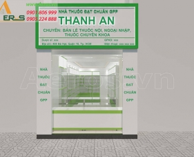 Thiết kế nhà thuốc tây Thanh An, quận 10, TPHCM