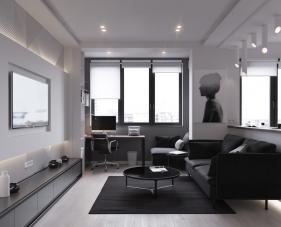 Mẫu thiết kế nội thất căn hộ 54m2 gây ngạc nhiên về phong cách