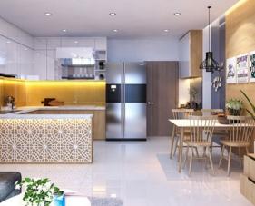 Thiết kế nội thất căn hộ chung cư 68m2 đẹp ai cũng thích