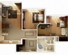 Thiết kế nội thất chung cư 2 phòng ngủ đa dạng và phong phú