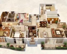 25 Ý tưởng thiết kế nội thất chung cư 3 phòng ngủ