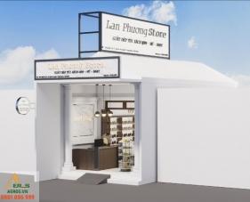 Thiết kế nội thất cửa hàng giày Lan Phương - Tây Ninh