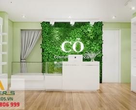 Thiết kế nội thất cửa hàng mỹ phẩm Cỏ Cosmetics & Skincare - quận 3