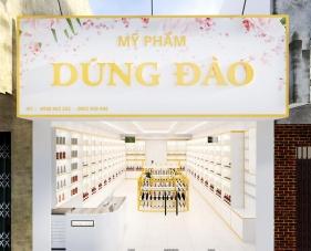 Thiết kế nội thất cửa hàng mỹ phẩm Dũng Đào - Tiền Giang