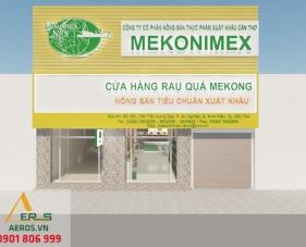 Thiết kế nội thất cửa hàng nông sản Mekong - Cần Thơ