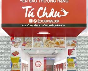 Thiết kế nội thất cửa hàng yến sào Tú Châu - Đồng Nai