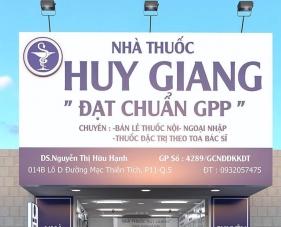Thiết kế nội thất nhà thuốc Huy Giang - quận 5