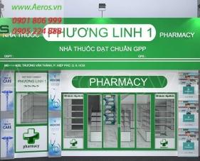 Thiết kế nội thất nhà thuốc Phương Linh 1 - quận 9