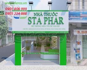 Thiết kế nội thất nhà thuốc Sta Phar - Bình Tân