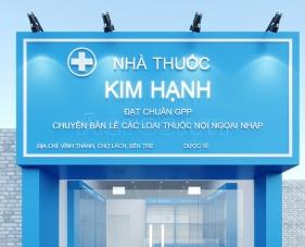 Thiết kế nội thất nhà thuốc tây chuẩn GPP Kim Hạnh - Bến Tre