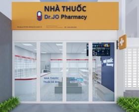 Thiết kế nội thất nhà thuốc tây Dr.Jo Pharmacy tại quận 10, TP.HCM
