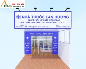 Thiết kế nội thất nhà thuốc tây Lan Hương - Đăk Lăk