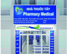 Thiết kế nội thất nhà thuốc tây Pharmacy Medical - Quận 2