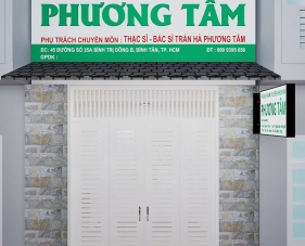Thiết kế nội thất phòng khám nhi Phương Tâm - Bình Tân