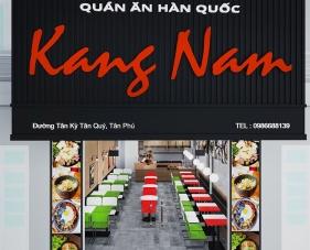 Thiết kế nội thất quán ăn Hàn quốc Kang Nam - quận Tân Phú