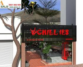 Thiết kế nội thất quán cafe Chillies - quận Tân Bình