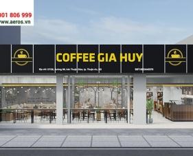 Thiết kế nội thất quán cafe Gia Huy - Bình Dương