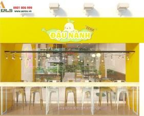 Thiết kế nội thất quán sữa đậu nành Mix tại quận 1, TP.HCM