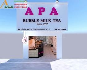 Thiết kế nội thất quán trà sữa APA - quận 9