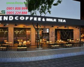 Thiết kế quán trà sữa Friend Coffee & Milk Tea tại quận 10
