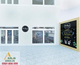 Thiết kế nội thất quán trà sữa King Tea - Bình Dương