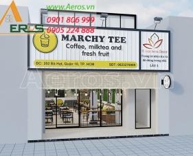 Thiết kế nội thất quán trà sữa Marchy Tee - quận 10