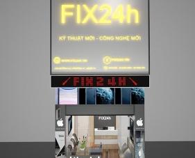 Thiết kế nội thất shop điện thoại Fix24h - quận 10
