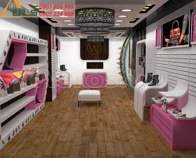 Thiết kế nội thất shop giày dép W Shop - quận 8