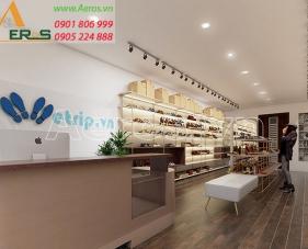 Thiết kế nội thất shop giày dép Wetrip - quận 5