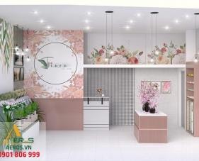 Thiết kế nội thất shop hoa tươi Tiara - Phú Nhuận
