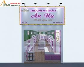Thiết kế nội thất shop mỹ phẩm An Na tại Bình Dương