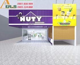 Thiết kế nội thất shop mỹ phẩm Nuty Cosmetics - quận 9