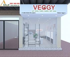 Thiết kế nội thất shop mỹ phẩm VEGGY - Quận 9